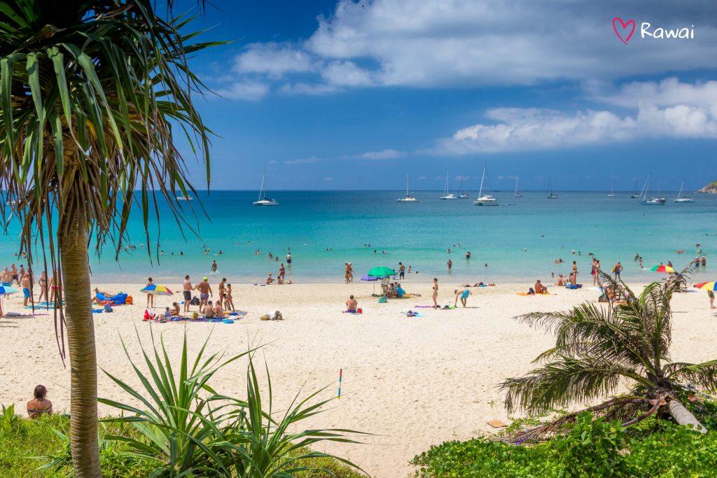 crowded beach on high season